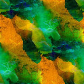 Sunlight seamless painting green brown yellow watercolor with br — Stock Photo