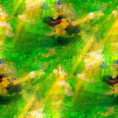 Sunlight seamless painting Green yellow watercolor with bright b — Stock Photo