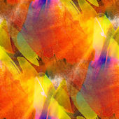 Sunlight seamless painting orange red yellow watercolor blue wit — Zdjęcie stockowe
