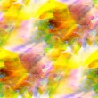 Foto de Stock  : Sunlight watercolor art green yellow blue seamless abstract text