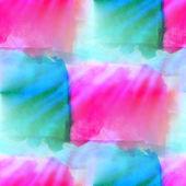 Sluneční světlo umění akvarel šedé čtvercové zelené růžové oranžové izolované o — Stock fotografie
