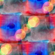 Bokeh abstract blue red watercolor seamless texture hand painted — Lizenzfreies Foto