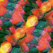 Bokeh abstract orange green watercolor art seamless texture hand — Stock Photo