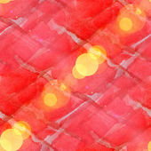 Bokeh abstract red watercolor seamless texture hand painted back — Stock Photo