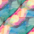 Bokeh art blue green pink watercolor isolated design — Foto de Stock