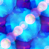 Bokeh art seamless texture background blue, purple watercolor ab — Stock Photo