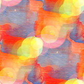 Bokeh seamless art orange blue square watercolor design — Stock Photo