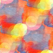 Bokeh seamless art orange blue square watercolor design — Stock Photo