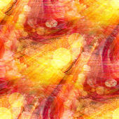 Bokeh wallpaper background red yellow watercolor art seamless te — Stock Photo