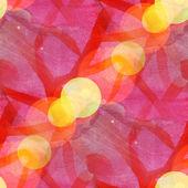 Bokeh seamless art red brown vanguard watercolor design — Stock Photo