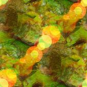 Bokeh wallpaper background yellow green watercolor art seamless — Stock Photo