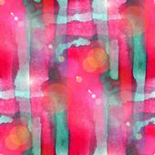 Sun glare abstract seamless painted watercolor green, red backgr — Stock Photo