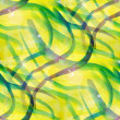 Sun glare abstract green, yellow seamless painted watercolor bac — Stock Photo #27775011