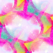 Sun glare abstract pink, blue seamless painted watercolor backgr — Stock Photo