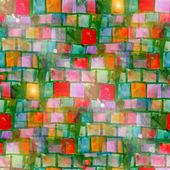 Sun glare grunge texture, watercolor green red seamless backgrou — Stock Photo