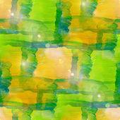 Sun glare grunge texture, watercolor green yellow seamless backg — Stock Photo