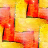 Sun glare grunge texture, watercolor red yellow vanguard seamles — Stock Photo