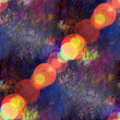 Foto Stock: Sun glare seamless texture of colorful abstract space planet bac