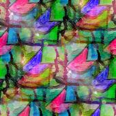 Sun glare grunge texture, watercolor seamless background, green — Stock Photo