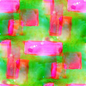 Sunlight abstract seamless painted yellow, pink watercolor backg — Stock Photo