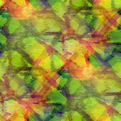 Sunlight background green, grid ornament watercolor art seamless — Stock Photo