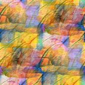 Sunlight background yellow, blue ornament watercolor art seamles — Stock Photo