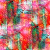 Sunlight grunge band red, green vanguard texture watercolor seam — Stock Photo