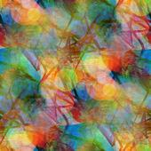Sunlight grunge band texture, watercolor blue green seamless, ba — Stock Photo