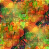Luce solare verde grunge texture arancione, acquerello senza soluzione di continuità, banda — Foto Stock
