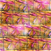 Sunlight ornament grunge texture, watercolor brown, red, ornamen — Stock Photo