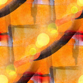 Sunlight watercolor vanguard yellow red on white for your design — Stock Photo