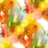 Sunlight watercolor yellow red green paint abstract blot — Stock Photo