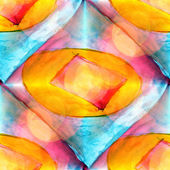 Sunlight abstract yellow, red, blue, art watercolor stain — Stock Photo