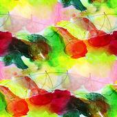 Sunlight macro watercolor green, yellow, red seamless texture pa — Stock Photo