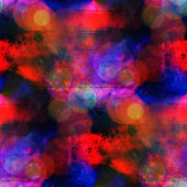 Sunlight seamless blue, red abstract art texture watercolor wall — Stock Photo