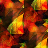 Sunlight seamless cubism red, yellow abstract art Picasso textur — Stock Photo