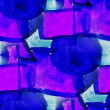 Stock Photo: Blue, purple seamless watercolor abstract background paint desig