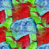 Seamless blue, red, green watercolor abstract background paint d — Stock Photo