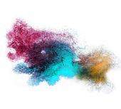Watercolor blue, brown, purplesplash isolated spot handmade colo — Stock Photo