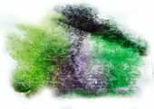 Watercolor green, purple splash isolated spot handmade colored b — Stock Photo