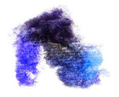 Watercolor splash blue isolated spot handmade colored background — Stock Photo
