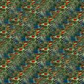 Sfondi arte sfondo verde rosso senza cuciture a mano brillante wate — Foto Stock