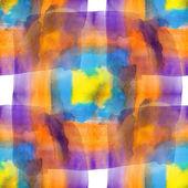 Glare from purple blue yellow orange watercolors spot blotch — Stock Photo