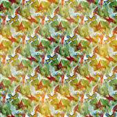无缝绿色、 红色炫彩水彩手工制作、 美丽墙 — 图库照片