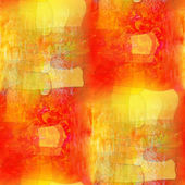 Artist watercolor background, seamless orange yellow paint backg — Stock Photo