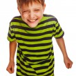 Teenage boy fun carefree laugh — Stock Photo #34717695