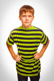 Angry teenage boy experiencing anger — Stock Photo