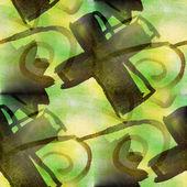 Textura transparente fondo verde acuarela abstracta pintura patt — Foto de Stock
