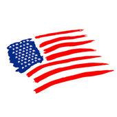 American vector flag — Stock Vector