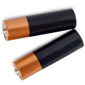 Batterij twee geïsoleerd op witte achtergrond — Stockfoto